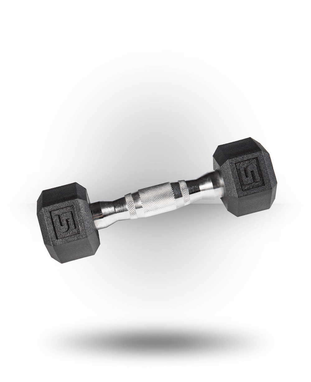 York Barbell PVC Hex Dumbbell With Chrome Ergo Handle 5 lb