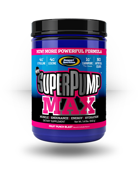 Gaspari Nutrition SuperPump MAX Fruit Punch Blast 40 ea