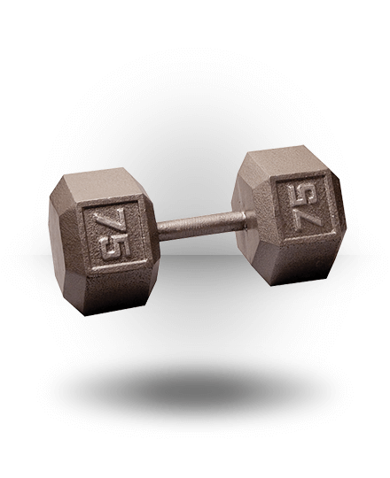 Body-Solid Hex Dumbbell 75 lb