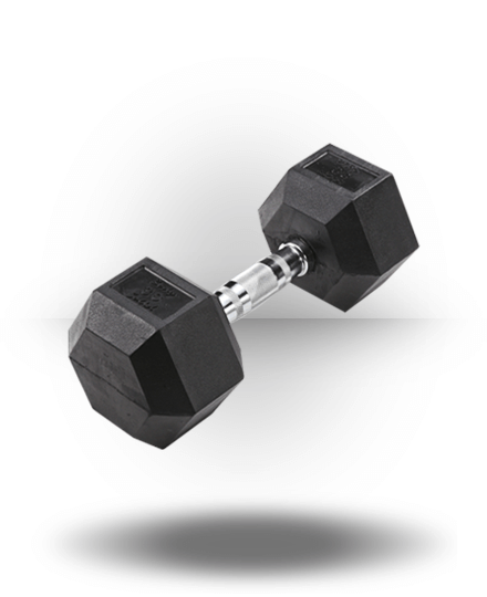 Body-Solid Rubber Coated Hex Dumbbell 30 lb