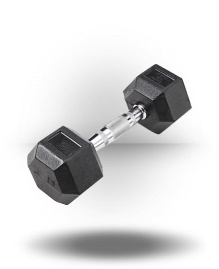 Body-Solid Rubber Coated Hex Dumbbell 12 lb