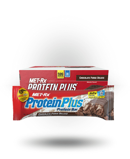 MET-Rx Protein Plus Chocolate Fudge Deluxe, 9 Bars