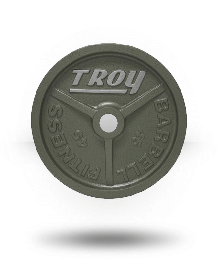 Troy Barbell Fully Machined Gray Wide-Flanged Olympic Plate 45 lb