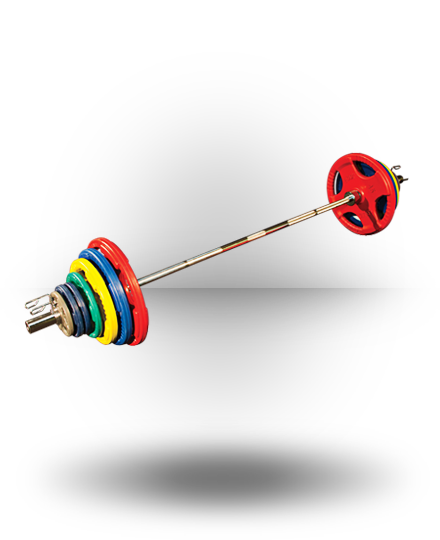 Body-Solid Rubber Grip Olympic Set (Colored) 300 lb