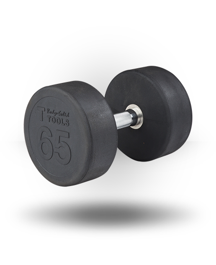 Body-Solid Rubber Pro-Style Dumbbell 65 lb
