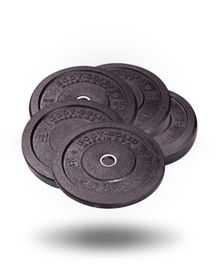 Body-Solid Premium Rubber Bumper Plates Set, 260 lb