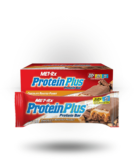 MET-Rx Protein Plus Chocolate Roasted Peanut With Caramel, 9 Bars