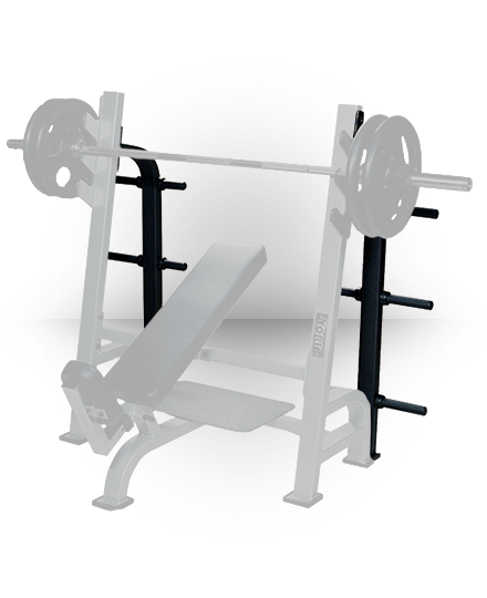 York Barbell Optional Weight Storage Silver