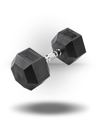 Body-Solid Rubber Coated Hex Dumbbell 55 lb