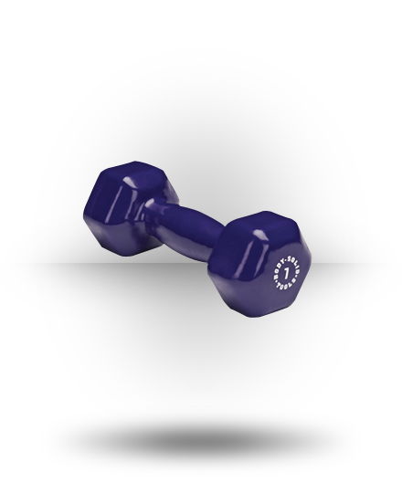 Body-Solid Vinyl Dumbbell Dk Purple 7 lb