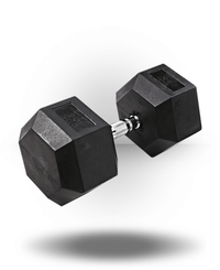 Body-Solid Rubber Coated Hex Dumbbell 90 lb