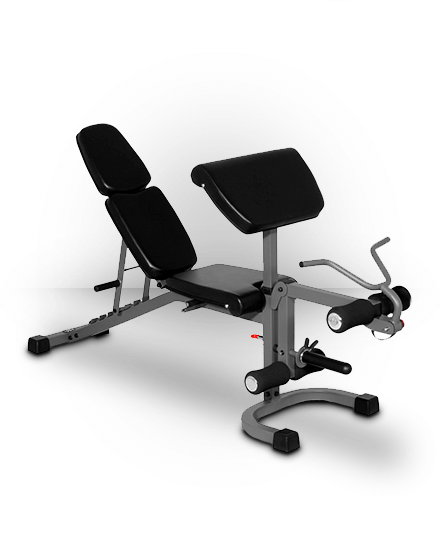XMark Fitness XMark FID Flat Incline Decline Weight Bench with Arm Curl and Leg Developer XM-4418