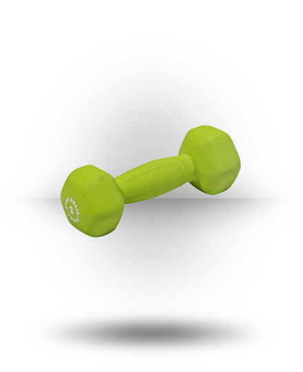 Body-Solid Neoprene Dumbbell, 3 lb Green