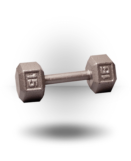 Body-Solid Hex Dumbbell 15 lb