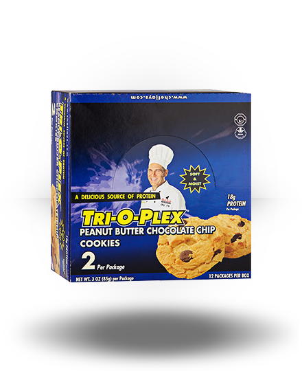 Chef Jay's Tri-O-Plex Cookies Peanut Butter Chocolate Chip 12
