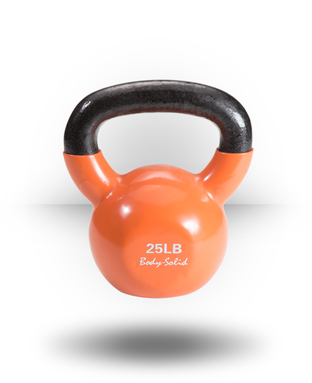 Body-Solid Vinyl Coated Kettlebell 25 lb