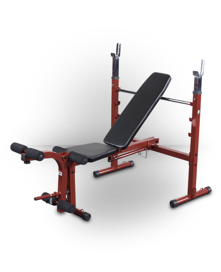 Best Fitness Olympic Folding Bench Red