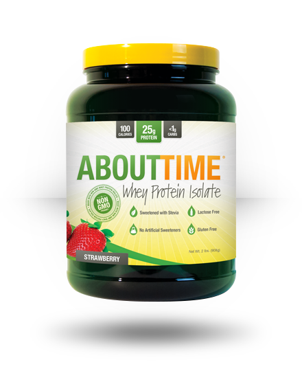 About Time Whey Protein Isolate Strawberry, 2 lb