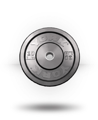 York Barbell Solid Rubber Training Bumper Plate (lb) 10 lb