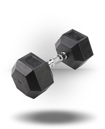 Body-Solid Rubber Coated Hex Dumbbell 50 lb