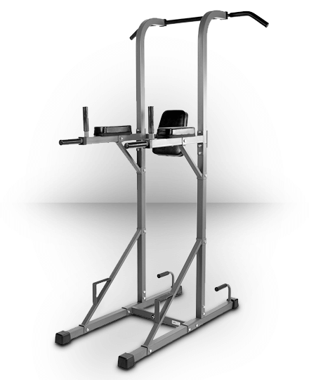 XMark Power Tower with Dip Station and Pull Up Bar Gray