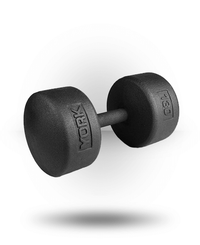 York Barbell Legacy Solid Round Professional Dumbbell 130 lb