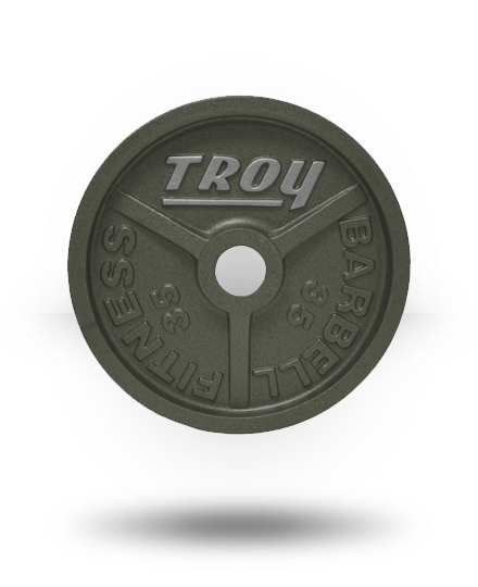 Troy Barbell Fully Machined Gray Wide-Flanged Olympic Plate 35 lb