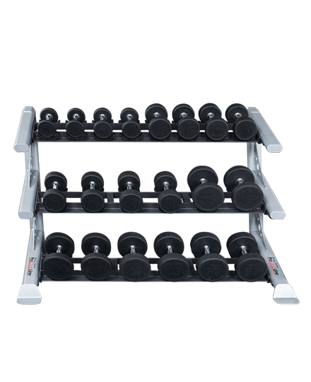 ProClubline 3 Tier Saddle Dumbbell Rack