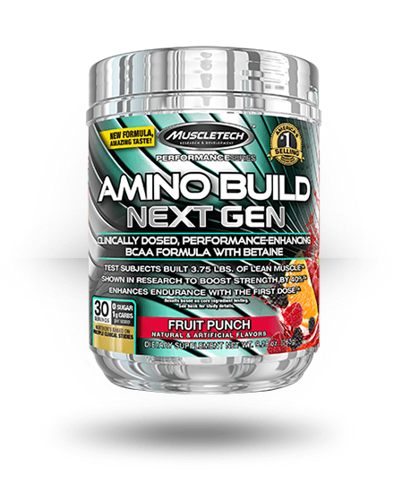 MuscleTech Amino Build Next Gen Fruit Punch 30 Servings