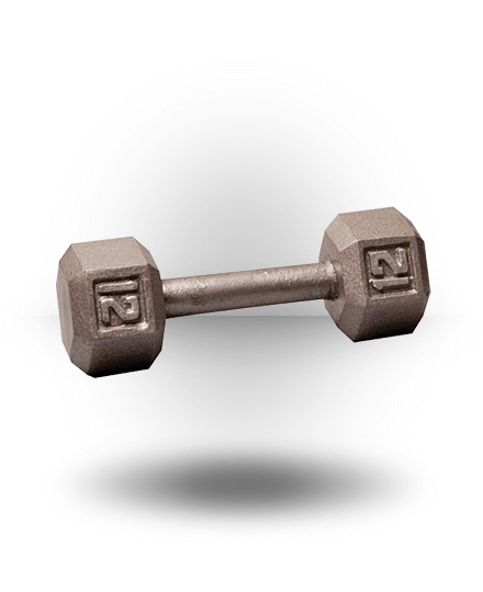 Body-Solid Hex Dumbbell 12 lb