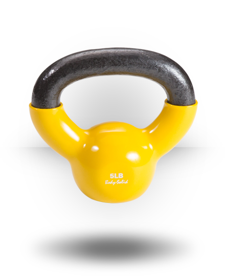 Body-Solid Vinyl Coated Kettlebell 5 lb