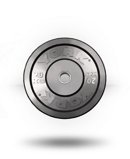 York Solid Rubber Training Bumper Plate (kg) 20 kg