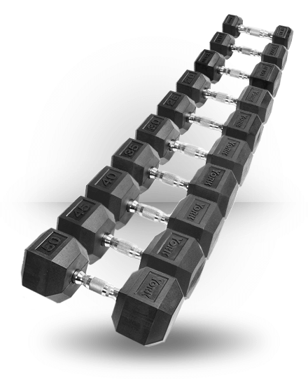 York Chrome Dumbbell Set 15kg: York Barbell Rubber Hex Dumbbell With Chrome Ergo Handle