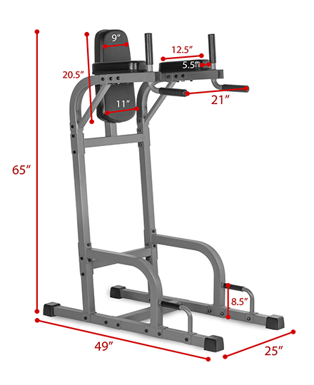 XMark Vertical Knee Raise with Dip Station