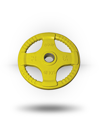 Body-Solid Rubber Grip Olympic Plate (Colored) Yellow 25 lb