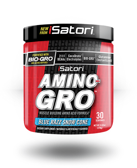 iSatori Amino-Gro Blue Razz Snow Cone 30 Servings