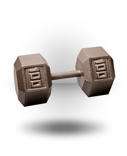 Body-Solid Hex Dumbbell 100 lb