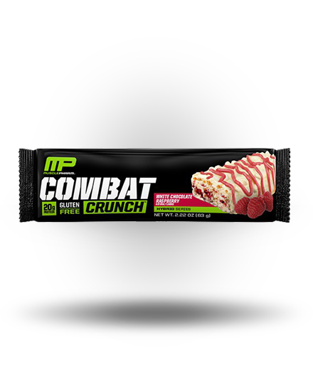 MusclePharm Combat Crunch White Chocolate Raspberry, 12 Bars