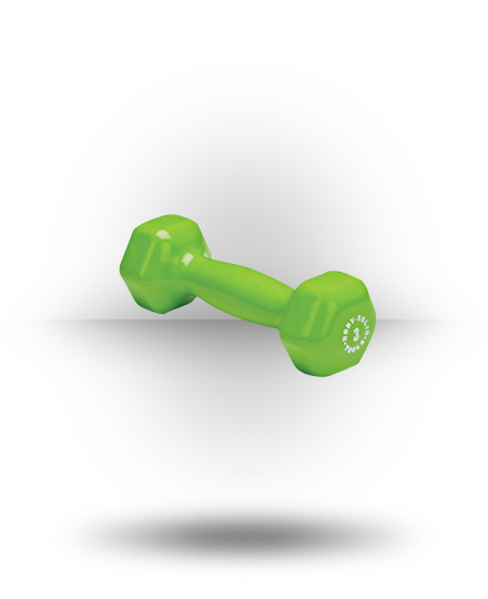 Body-Solid Vinyl Dumbbell Green 3 lb