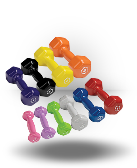 Body-Solid Vinyl Dumbbell Set Pairs 1-10 lb