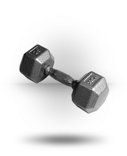 York Barbell Pro Hex Dumbbell With Cast Ergo Handle 25 lb