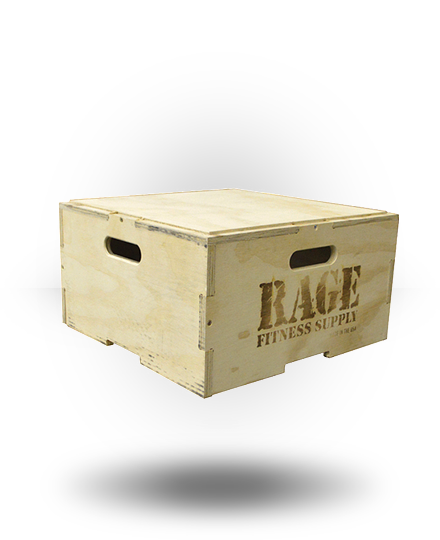 Rage Fitness Rage Wood Stackable Plyo Box 12""
