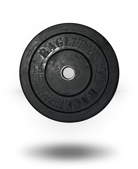 Rage Fitness Rage Olympic Bumper Plate 15 lb