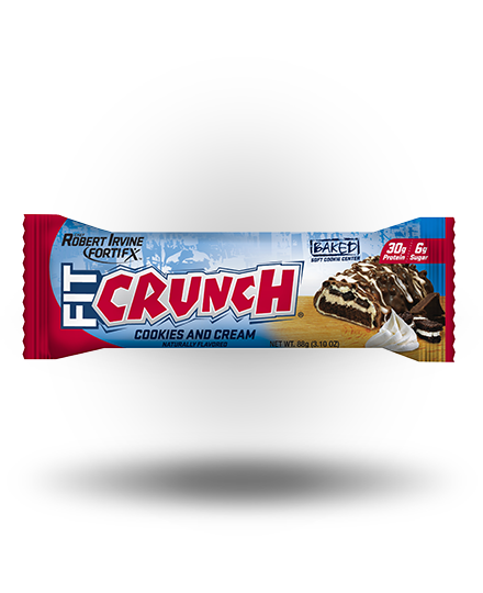 FIT CRUNCH BARS Fit Crunch Bar Cookies & Cream, 12 x 88 g Bars
