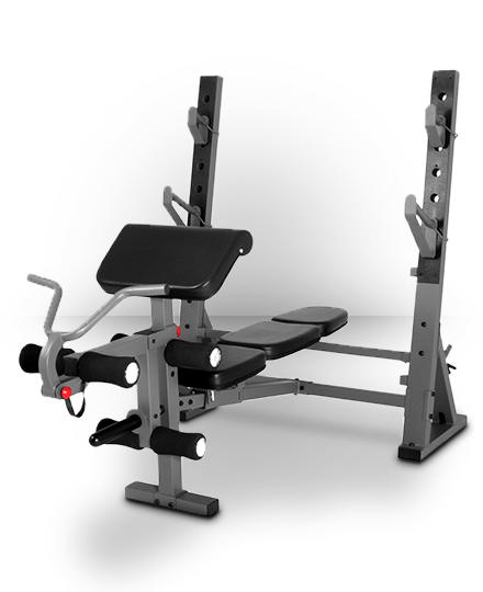 XMark Fitness XMark International Olympic Weight Bench With Leg And Preacher Curl Attachment XM-4424