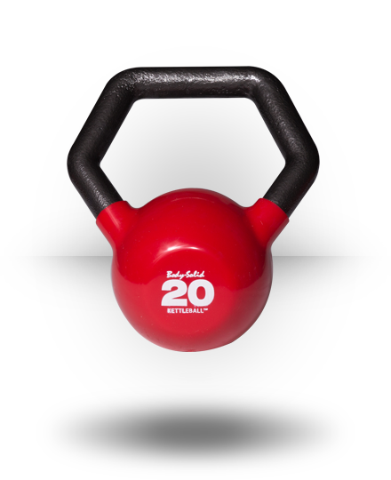 Body-Solid Vinyl Dipped Kettleball 20 lb