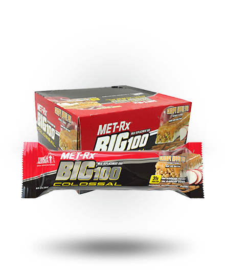 MET-Rx Big 100 Colossal Crispy Apple Pie 9 x 3.52 oz Bars
