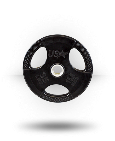 TROY Barbell USA Rubber Grip plates (35lb)