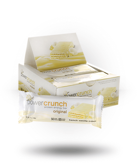 Power Crunch Original Protein Energy Bar French Vanilla 12 x 1.4 oz Bars