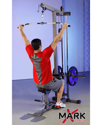 Lat Pull-Down and Low Row Cable Machine
